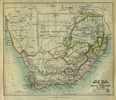 Sketch Map of South Africa, Showing British Possessions, July 1885