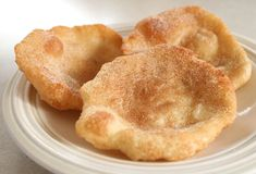 Mini fried dough, easy with Rhodes dunner roll dough YUM
