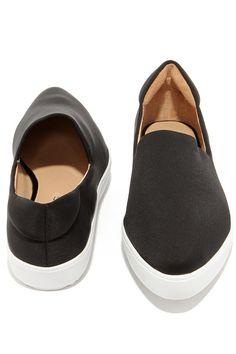 J Slides Dibbie Black and White Slip-On Sneakersat Lulus.com!