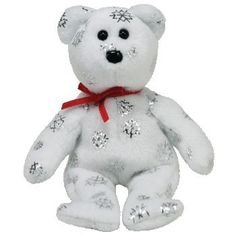 09d5350feb0 Amazon.com  TY Jingle Beanie Baby - FLAKY the Bear (White) (Walgreens  Exclusive)  Toys   Games
