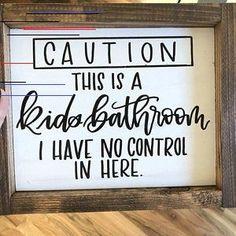 Bathroom sign wood sign home decor wood sign farmhouse wood sign bathroom humor funny bathro bathro bathroom decor farmhouse funny home humor sign wood Wood Signs Home Decor, Home Signs, Diy Home Decor, Wall Decor, Funny Home Decor, Decor Crafts, Decorations For Home, Etsy Wood Signs, Wood Crafts