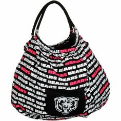 Chicago Bears Ladies Banner Purse - Black