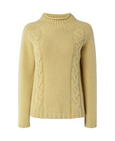 Mock Turtle Pullover in Soft Gold