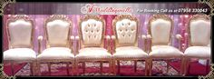 A1 Weddingwalla presents fantastic collection of #Chairs for #wedding #reception #engagement and many more events. For booking call us at 07958 330043.