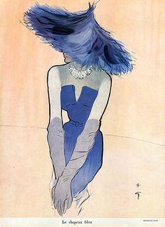 christian-dior-1949-rene-gruau-the-blue-hat-dress-
