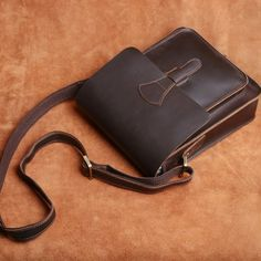 Mens Leather Laptop Bag, Leather Briefcase, Leather Crossbody Bag, Leather Handbags, Cycling Bag, Bike Bag, Briefcase For Men, Leather Bags Handmade, Small Crossbody Bag