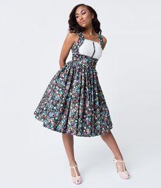 18ee5894b0c Black   Ditzy Floral Print Fields Swing Dress