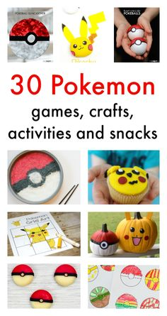 Pokemon crafts, Pokemon activities for children, great Pokemon party ideas!