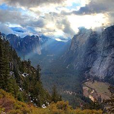 Lightbeam in the Valley, Yosemite NP