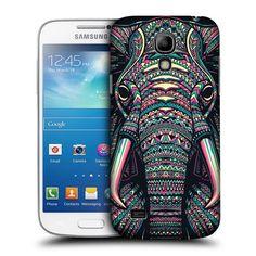 Head Case Elephant Aztec Animal Face Case For Samsung Galaxy S4 Mini I9190 I9192