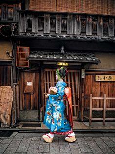 Kyoto's Gion neighborhood (Japan) - visit Yasaka Shrine where the geisha live and work.