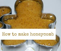 Easy honeycomb recipe for discovering why honeycomb is bubbly. Simple kitchen science investigation for kids Kids Cooking Recipes, Cooking With Kids, Kids Meals, Cooking Tips, Easy Meals, Cooking Steak, Cooking Salmon, Cooking Games, How To Make Honeycomb