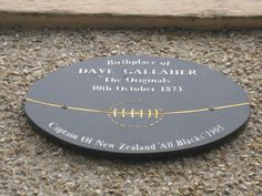 Dave Gallaher Birthplace All Blacks, Rugby, New Zealand, The Originals, Rugby Sport