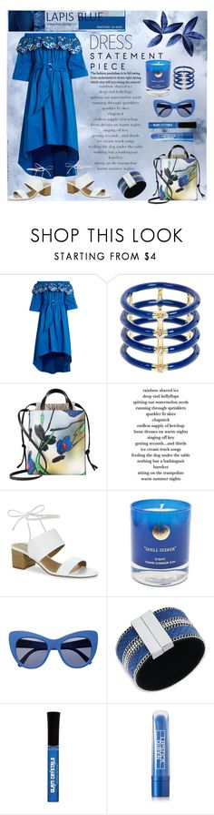 """""""Spring Trend: Off-Shoulder Dresses"""" by affton ❤ liked on Polyvore featuring Peter Pilotto, Elizabeth and James, Marni, Tahari, Hightide Devon, STELLA McCARTNEY, GUESS, Lipstick Queen, offshoulderdress and springsunnies"""
