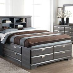 'Cypres' Queen Storage Bed - Sears | Sears Canada