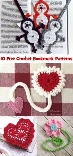 10 Free Crochet Bookmark Patterns - Crochet That! Crochet Gratis, Crochet Mittens, Crochet Books, Free Crochet, Crochet Top, Crochet Poncho Patterns, Crochet Patterns For Beginners, Crochet Shawl, Easy Crochet Bookmarks