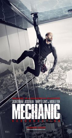 """The sequel to the 2011 remake of """"The Mechanic"""" entitled """"Mechanic: Resurrection"""" starring Jason Statham, Jessica Alba, Michelle Yeoh, and Tommy Lee Jones is now playing in theaters. Mechanic Resurrection, Michelle Yeoh, Latest Movies, New Movies, Movies Online, Good Movies, Movies Free, Watch Movies, Movie Posters"""