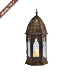 Bronze Metal Cathedral Lantern