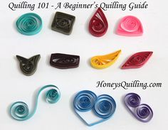 Free Paper Quilling Tutorials | Honey's Quilling