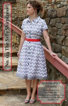 I need this pattern!  The dress is only four pieces, so it can be cut out and sewn in no time!!  Sally Shirtdress