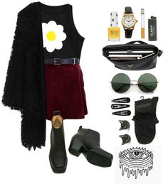 """""""daisy face"""" by only-desire ❤ liked on Polyvore"""