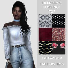 Sims 4 CC's - The Best: DeltaSim's Florence Top by HallowSims