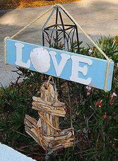 Wooden Love Sign//Beach Wedding by SeriouslyCindyrella on Etsy