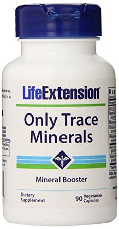 Life Extension Only Trace Minerals 90 vegetarian capsules ** More info @