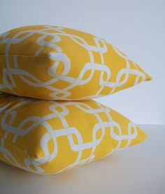 Yellow Pillows Gotcha Premier by skoopehome on Etsy. These will be MINE!