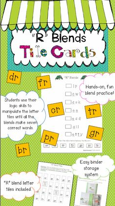 "Fun, hands-on center activity for reading and spelling ""R"" blend words!"