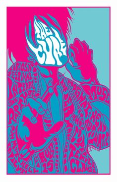 The Cure concert poster