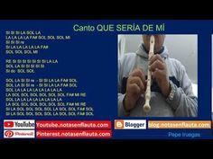 Canto QUE SERÍA DE MÍ Notas para Flauta Instagram, Flute, Report Cards, Sweet
