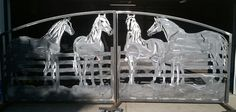 A metal art horse gate. I really want to make one.