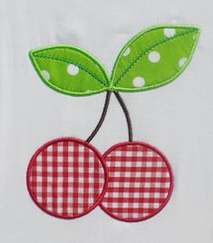 Cherries Embroidery Design Machine Applique. by theappliquediva                                                                                                                                                                                 Mais