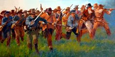 Texan infantry charge at San Jacinto
