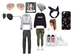 """""""Gangster Girls"""" by elena-bovee ❤ liked on Polyvore featuring RED Valentino, Puma, NIKE, Boohoo, The North Face and Ray-Ban"""