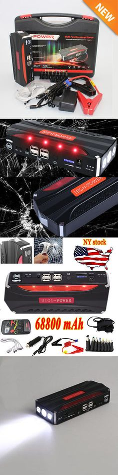 Battery Chargers: Portable 68800Mah Usb Car Jump Starter 12V Battery Charger Emergency Power Bank~ -> BUY IT NOW ONLY: $43.95 on eBay!