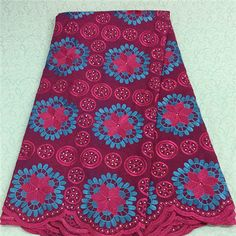 African Embroidery Lace Fabric LKLACE4130-11  https://www.lacekingdom.com/      #embroiderylace