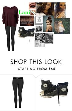 """""""Untitled #677"""" by mattiebrogan ❤ liked on Polyvore featuring Topshop and Converse"""