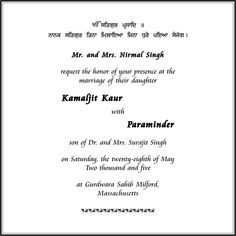 sikh wedding card wording marriage invitation wordings parekh cards