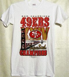 From 1990! San Fransisco 49er's Back 2 Back Super Bowls Shirt! Adult Small (34-36). by Micko555 on Etsy