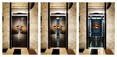 superman elevator doors