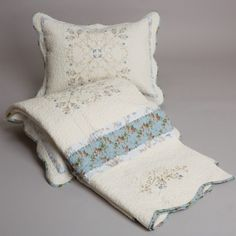 Delphine Embroidered Coverlet Sets: Quilts Etc.