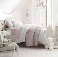 RH Baby & Child's Adele Bed:Designed with graceful curves, carved cabriole legs and woven cane panels, Adele has a traditional French design aesthetic.