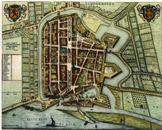 Blaeu Atlas: Schoonhoven ca 1662, Netherlands.