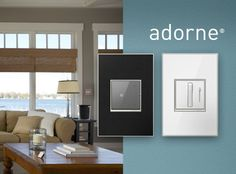 """Finally, stylish switches: """"adorne™"""" Light Switches & Lighting Controls by Legrand Interior Design Inspiration, Home Interior Design, Modern Light Switches, Tranquil Bathroom, Under Cabinet Lighting Wireless, Interior Lighting, Plates On Wall, Wire Management, Cable Management"""