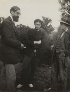 Lytton Strachey; Duncan Grant; (Arthur) Clive Bell, by Vanessa Bell, 1922 - NPG x26568 - © estate of Vanessa Bell courtesy of Henrietta Garnett