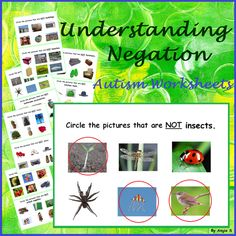 Negation Worksheets, Understanding Negation for Special Education #negation For more resources follow https://www.pinterest.com/angelajuvic/autism-and-special-education-resources-angie-s-tpt/