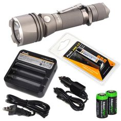 Special Offers - Fenix TK22 XM-L2 T6 680 Lumens Cree neutral LED lossless orange-peel reflector special edition Military Grey tactical Flashlight with Fenix ARB-L2 18650 rechargeable battery Fenix ARE-C1 Battery charger and Two EdisonBright CR123A Lithium Batteries bundle - In stock & Free Shipping. You can save more money! Check It (April 21 2016 at 05:17AM)…