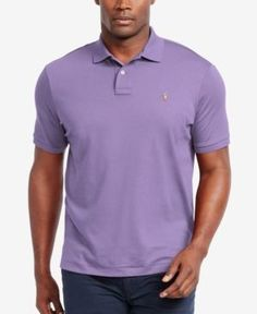 Polo Ralph Lauren Men's Big & Tall Pima Cotton Soft-Touch Polo - Purple 4LT